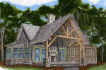 Small Timber Frame Cabin House Plans
