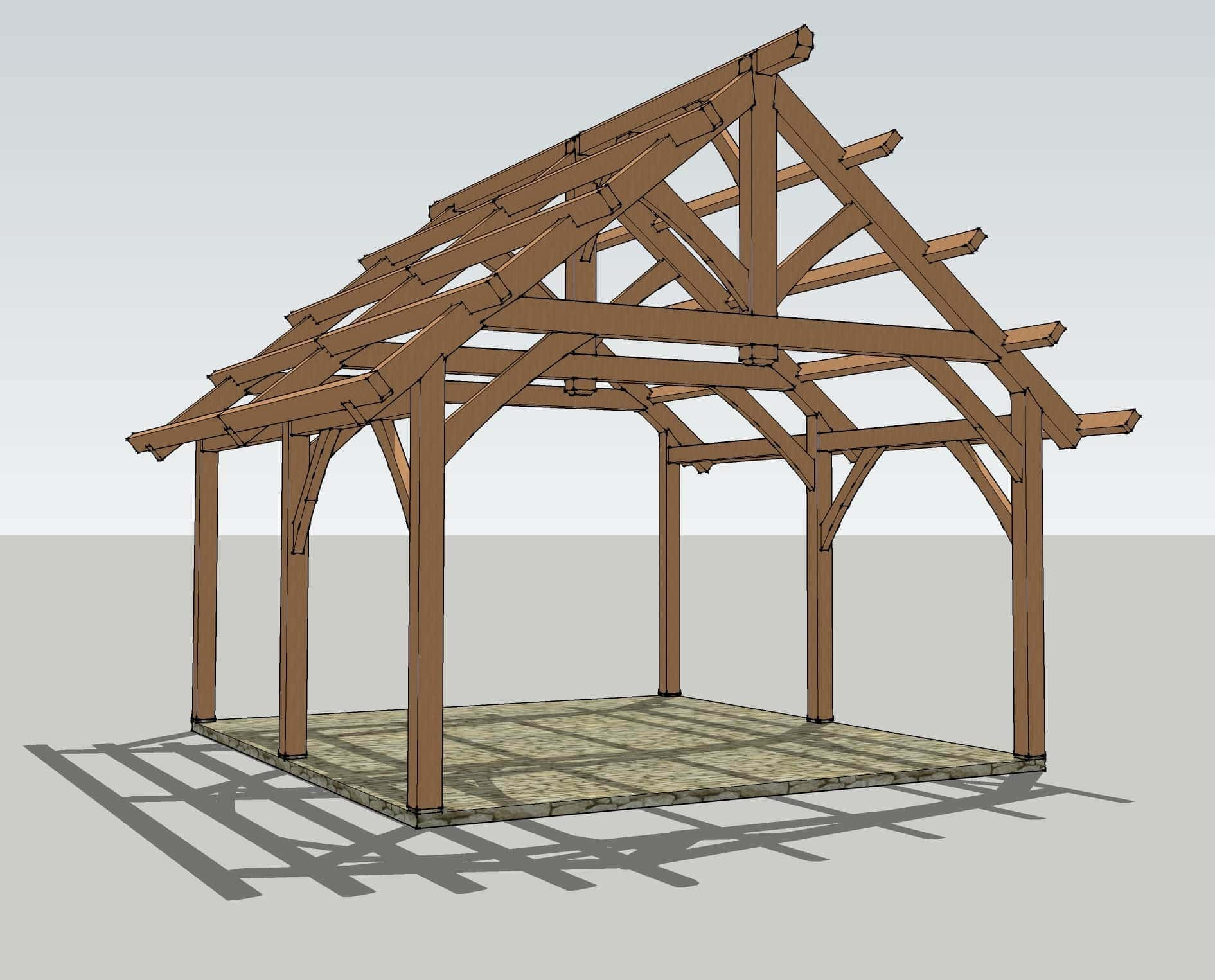 Garage Design Ideas Nz 19x22 Timbered Pavilion Timber Frame Hq