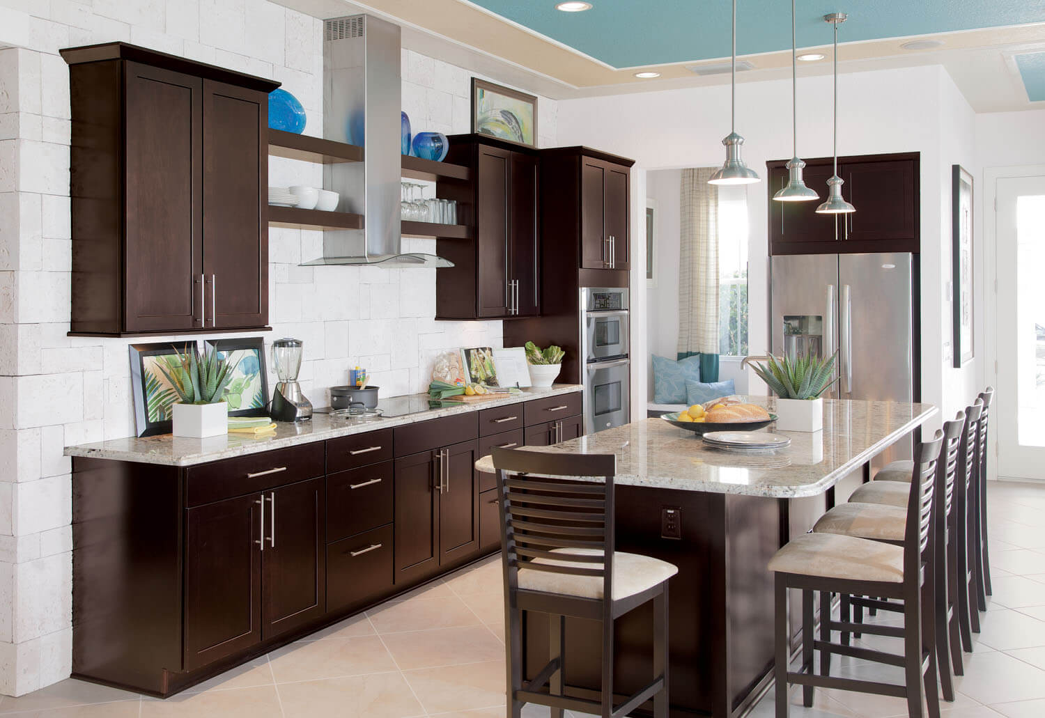 Coffee Color Kitchen Cabinets Builder Concept Homes Feature Timberlake Cabinetry At Ibs 2012