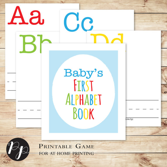DIY My First Alphabet Baby Shower Book Time for the Holidays
