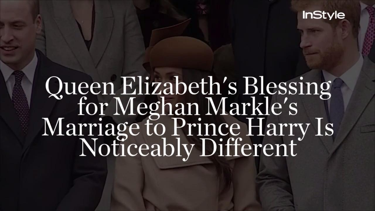 Queen Elizabeth Hochzeit Queen Elizabeth S Blessing For Meghan Markle S Marriage To Prince Harry Is Noticeably Different