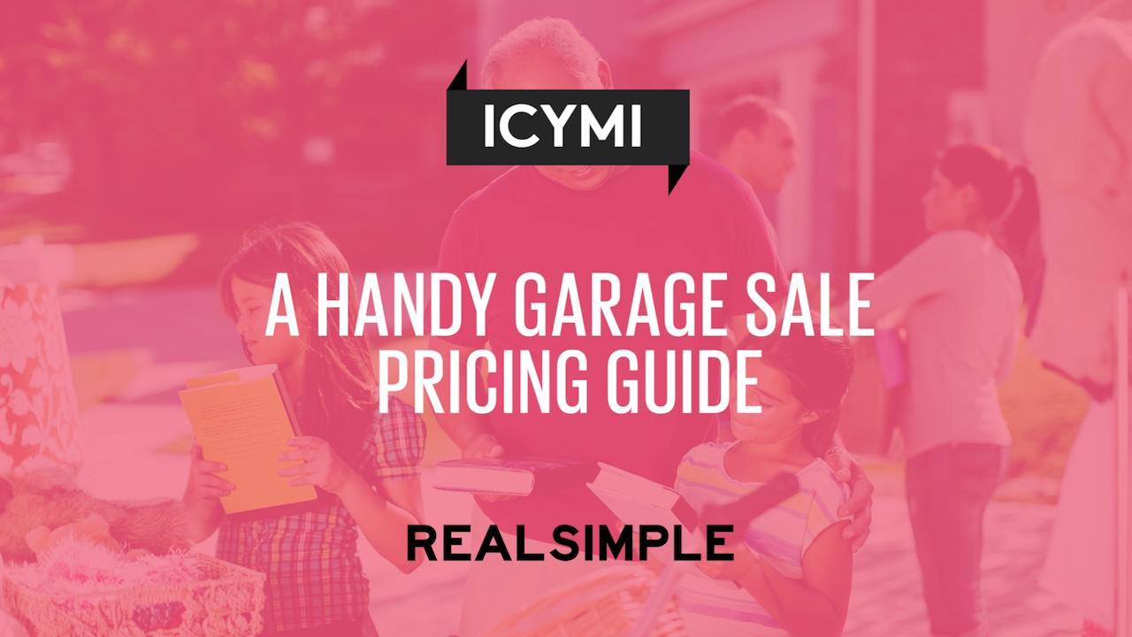 Garage Sale Price Stickers A Handy Garage Sale Pricing Guide