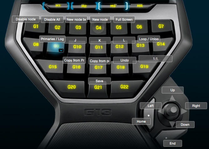 Grading in Resolve with Logitech G-13