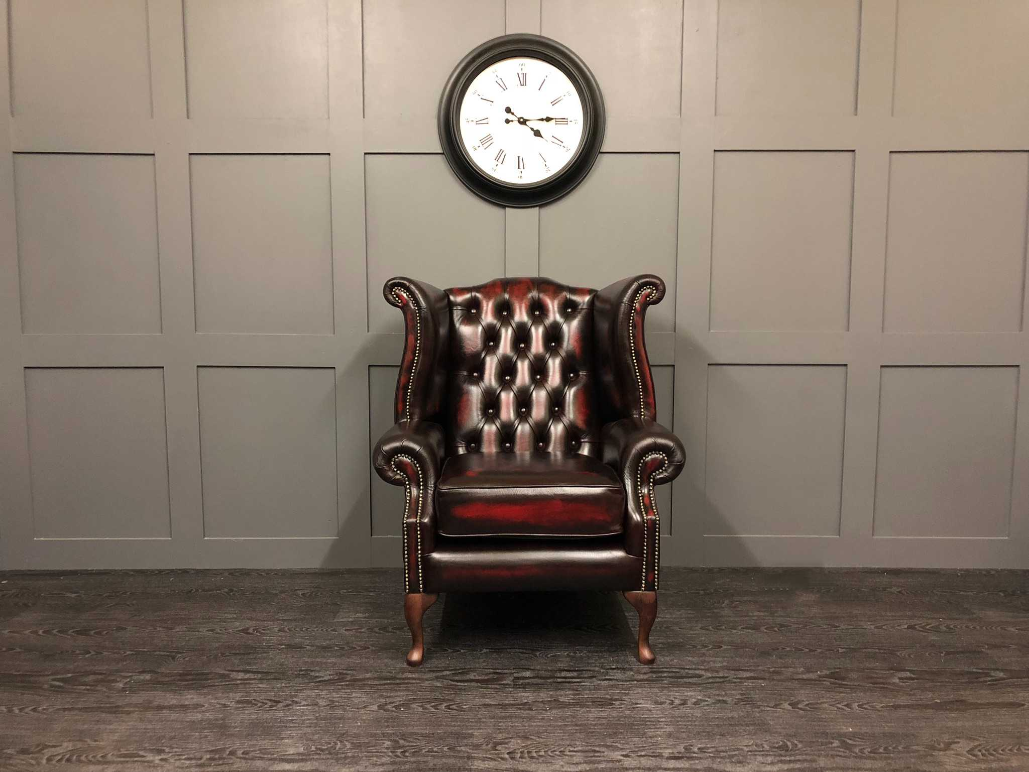 Sofa Harrogate Sale The Kent - Wing Chair - Antique Oxblood Leather - Timeless