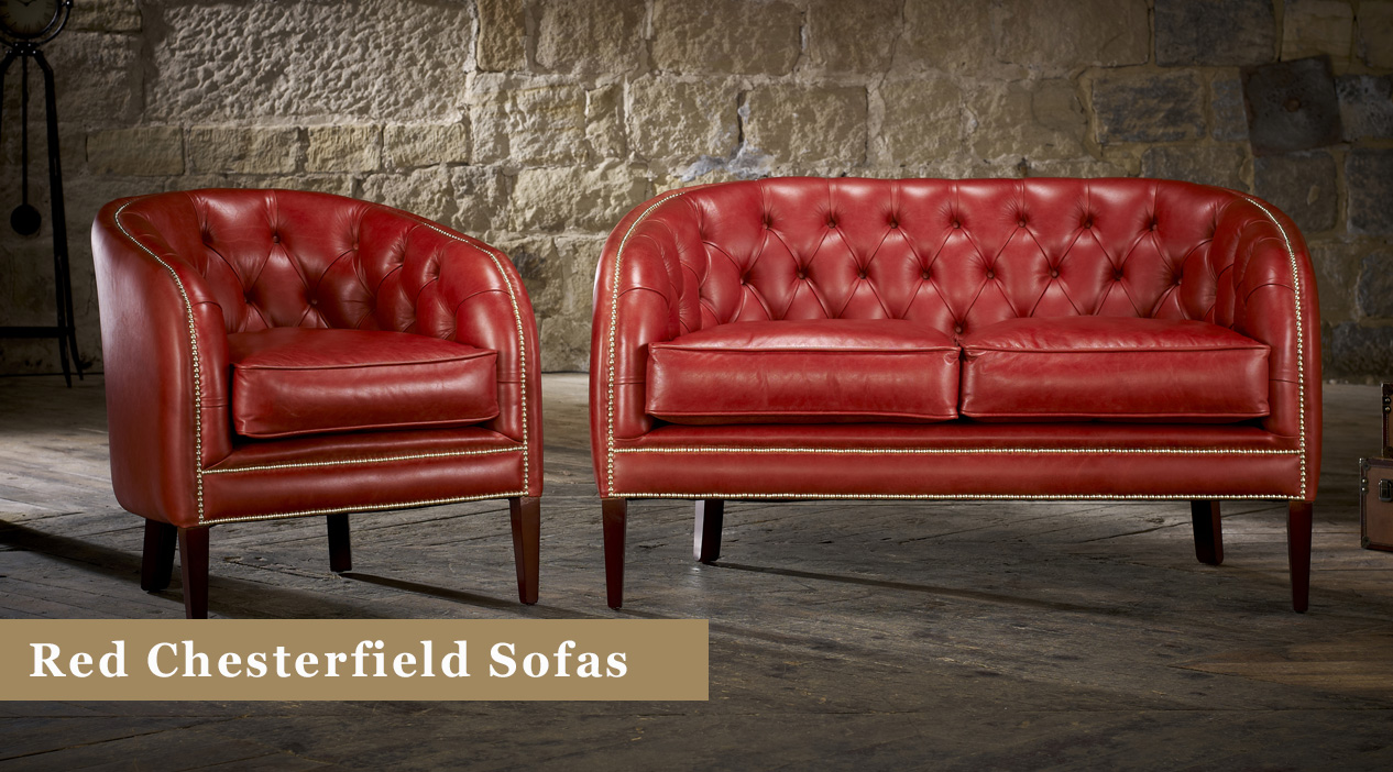 Red Chesterfield Sofas For Sale Leather Fabric Timeless Chesterfields