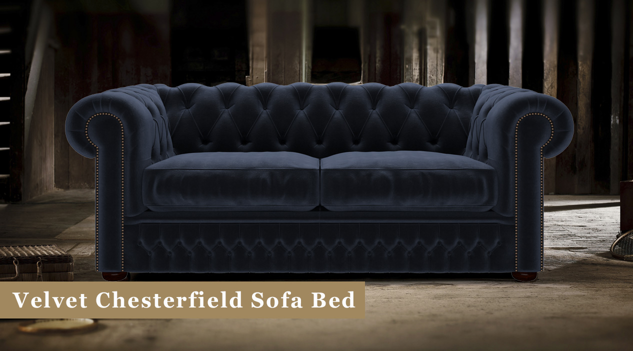 Chesterfield Suites Velvet Chesterfield Sofa Beds Timeless Chesterfields