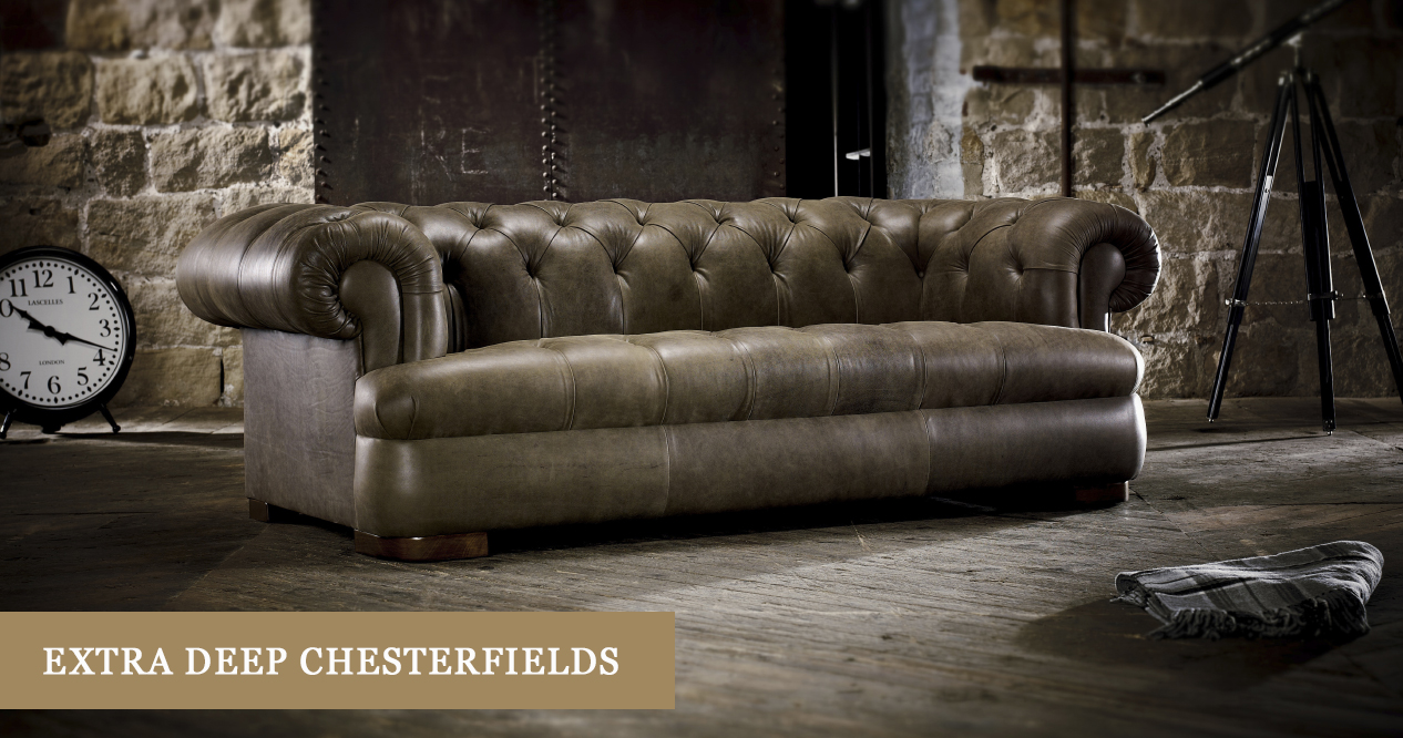 Sofa In Chesterfield Look Extra Deep Seated Chesterfield Sofas Timeless Chesterfields