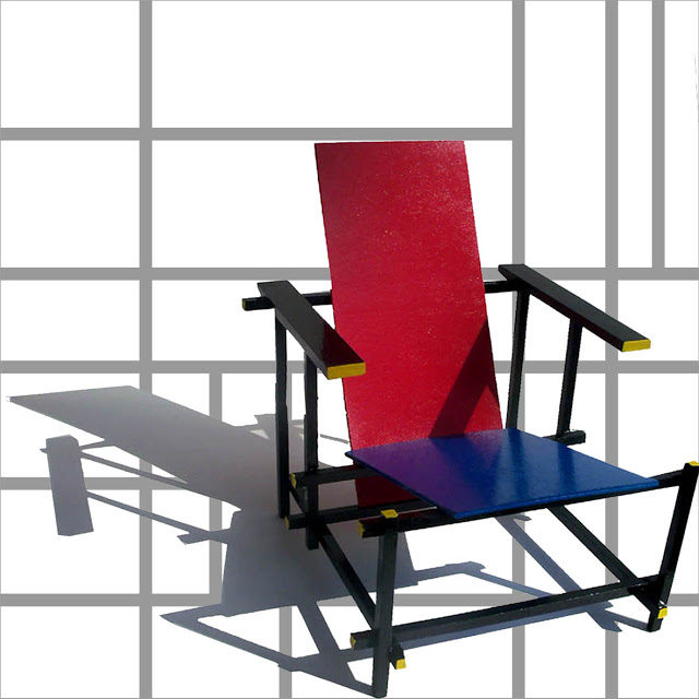 Design Stuhl Klassiker Gerrit Rietveld Red & Blue Chair » Bauhaus Chair Design