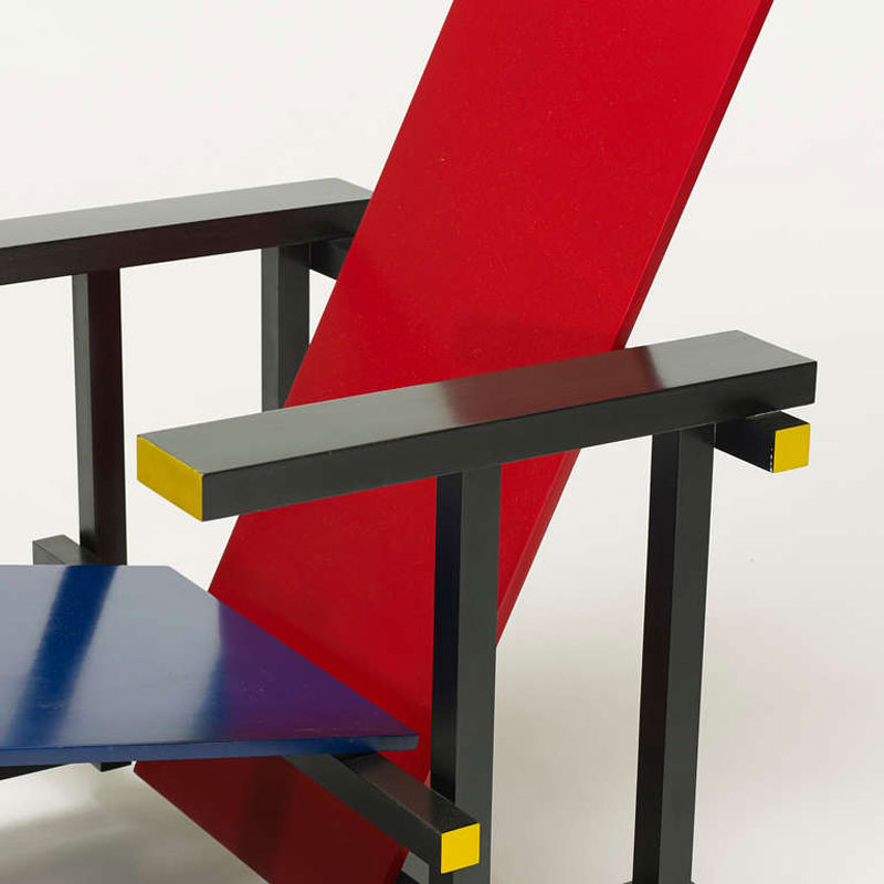 Design Stuhl Klassiker Gerrit Rietveld Red & Blue Chair Bauhaus Chair Design