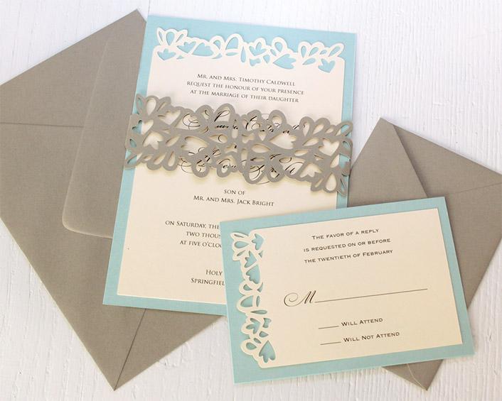 Petal Cutout RSVP Cards  Timeless Paper