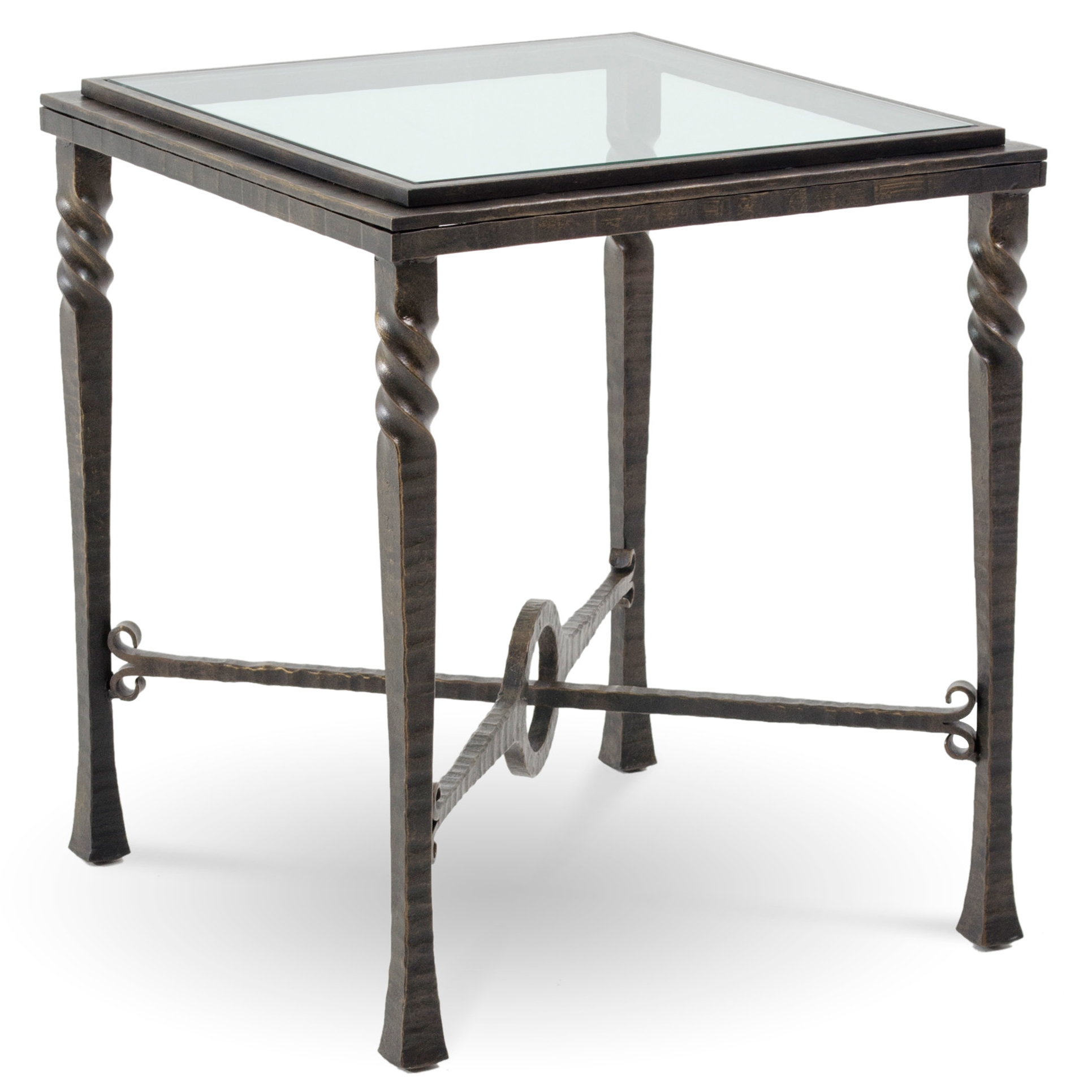 Finish Tables Pictured Is The Omega Square End Table With Glass Table
