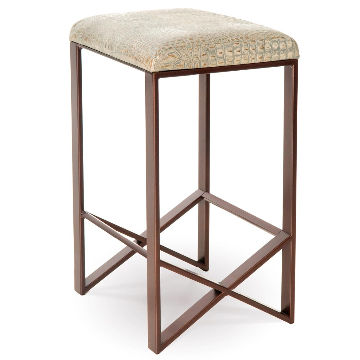 Pictured Here Is The Victoria Backless Counter Stool Quality Hand Forged Construction With - Backless Stools