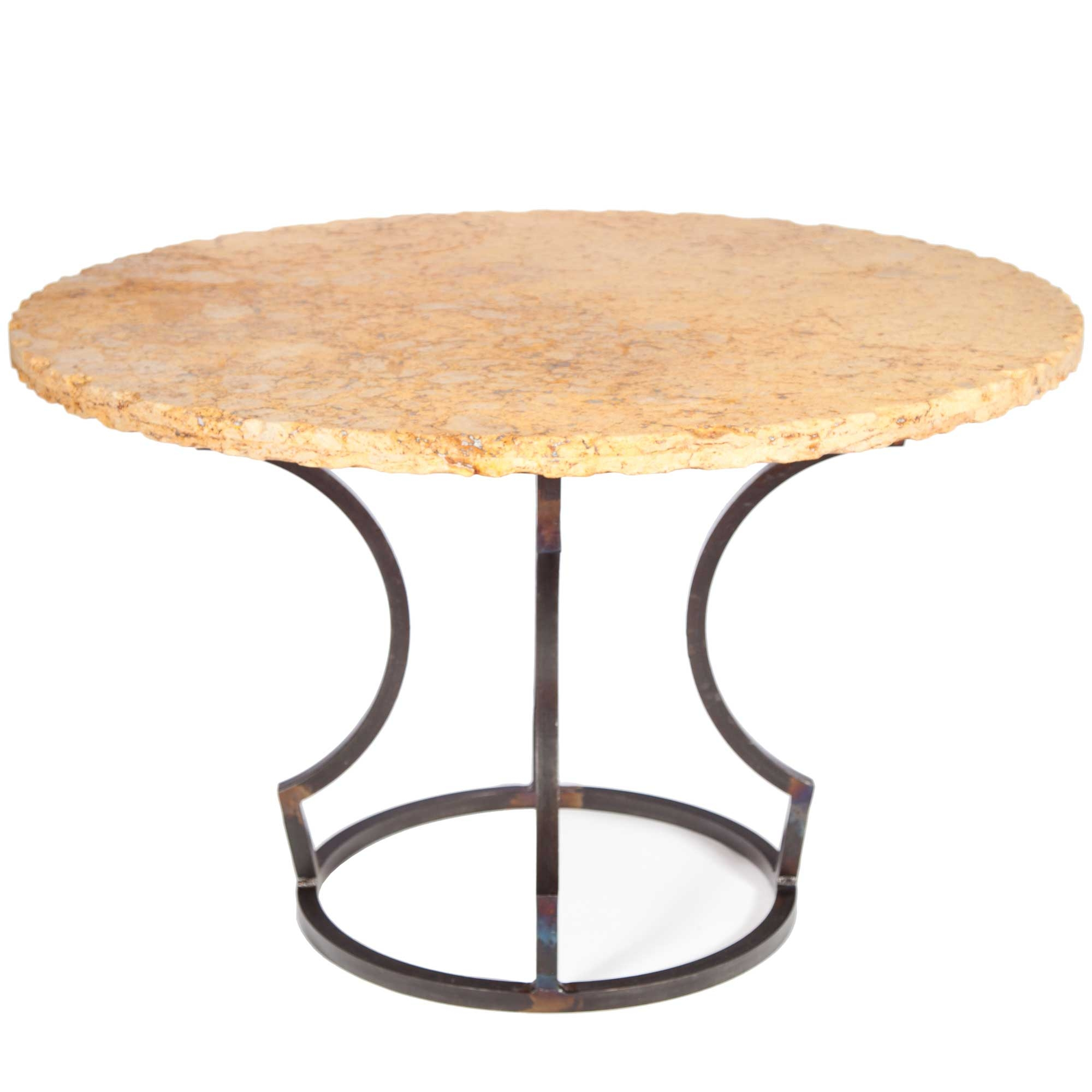 Round Marble Top Dining Table Charles Iron Dining Table With 48 Quot Round Marble Top