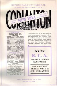 Corianton ad from Nov 1931 Juvenile Instructor - HT Ardis Parshall