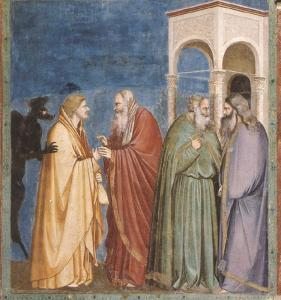 "Giotto, ""The Betrayal of Judas,"" 1304-1306, Capella degli Scrovegni, Padua, Italy"