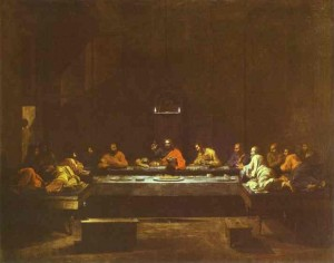 "Nicolas Poussin, ""The Last Supper,"" 1640s."