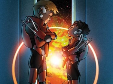 Ender and Bean, as depicted in the graphic novel adaptation.