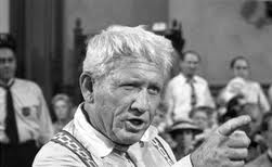 Spencer Tracy portraying Clarence Darrow in Inherit the Wind