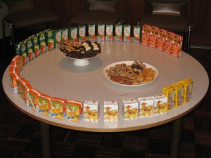 A quite Mormon snack table