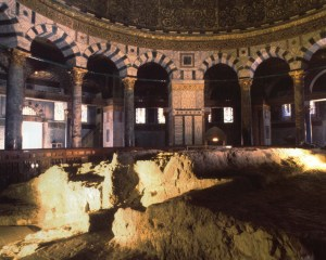 The interior of the Dome of the Rock, place of birth of our three Abrahamic religions