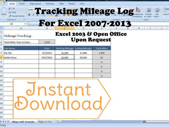 Mileage Log, Tracking Mileage -