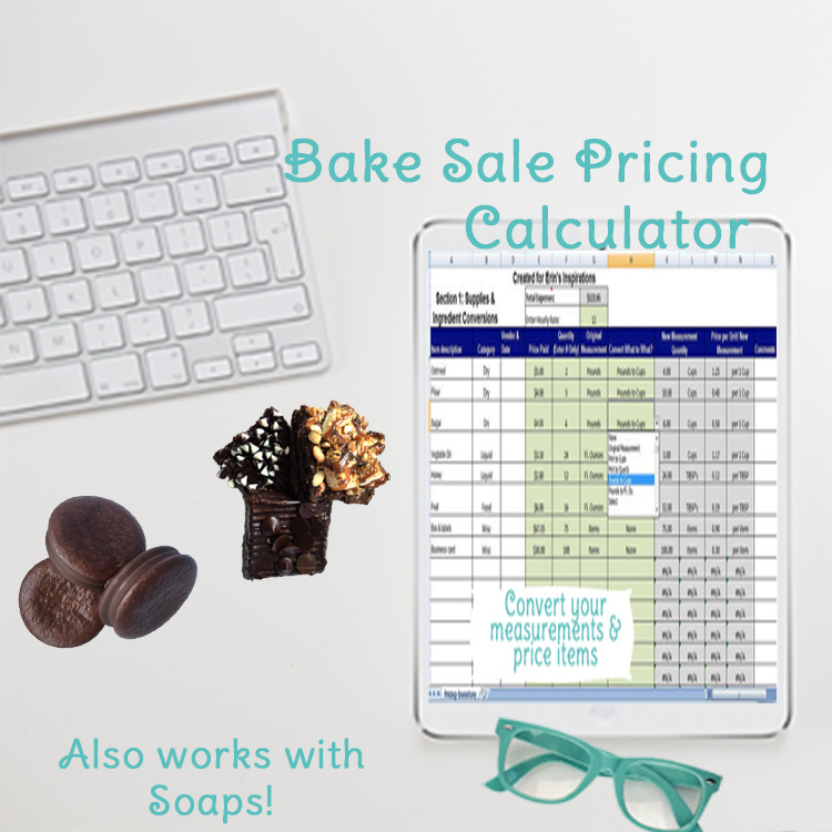 How to Price Baked Goods, Baking Cost Calculator Spreadsheet, Food
