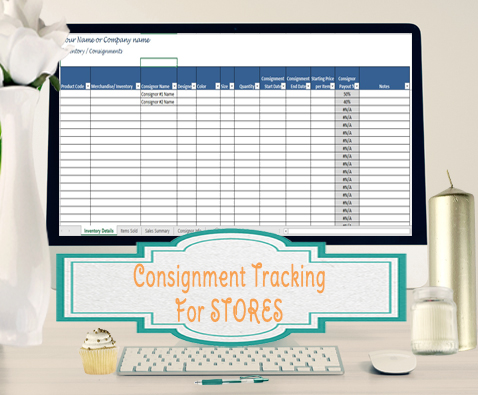 Inventory and Sales Consignment Tracking for Stores, Track - consignment template