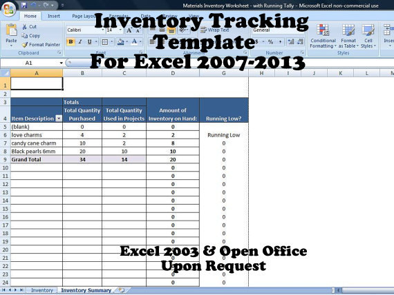 Inventory Tracker Excel, Inventory System for Small Business
