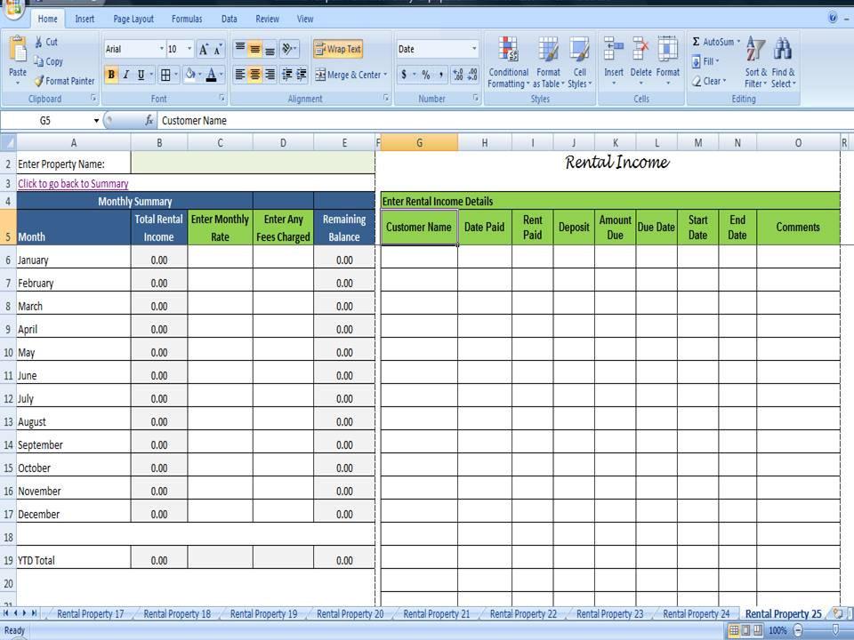 Tenant Payment Ledger, Remaining Balance Rent Due Calculator - 25