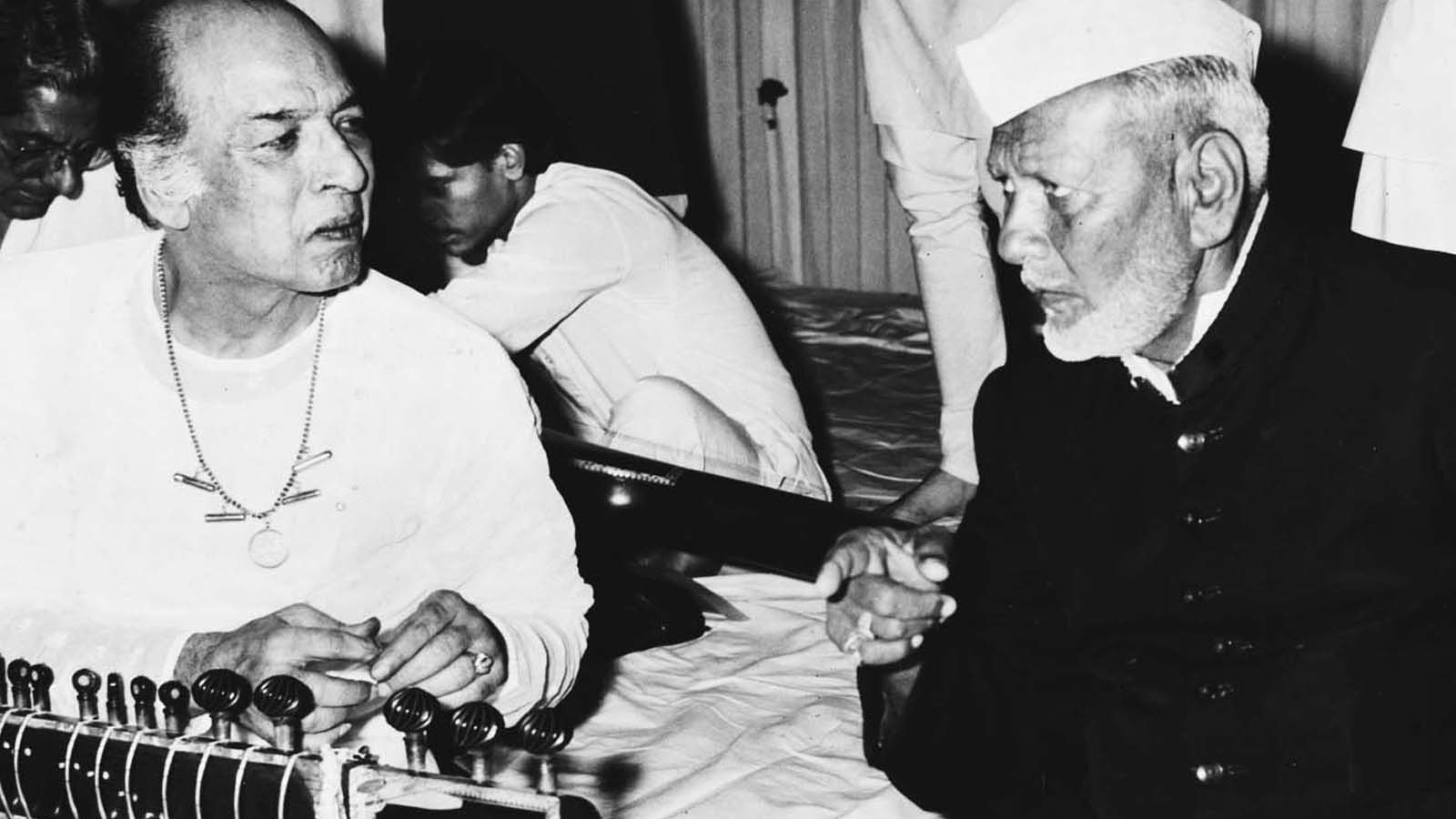 Lyle Wachovsky has unpublished recordings of great Indian artistes, including sitar star Vilayat Khan. In the pic Vilayat Khan (left) with shehnai maestro Bismillah Khan (right)