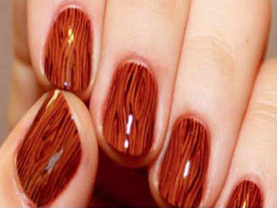 Woodgrain On Your Nails The New Trend Times Of India