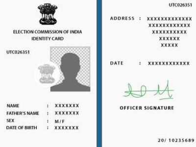 How to change address in voter ID card India News - Times of India