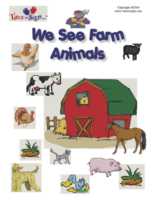 Toddler Child Requirements We See Farm Animals Sign Language Story Time To Sign