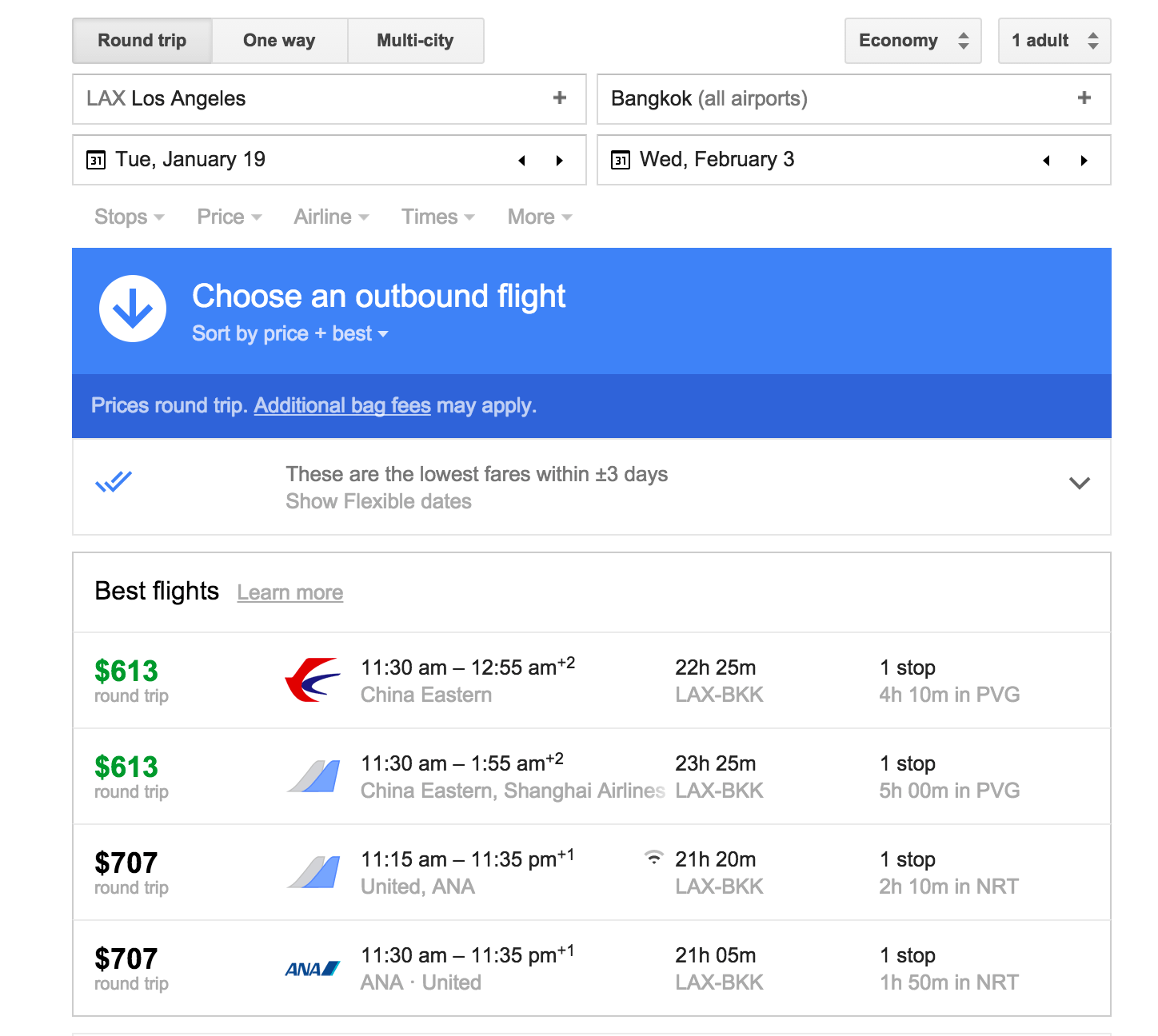 Google Flights Google Flights Secrets To Getting 600 Rt Flight To Thailand In
