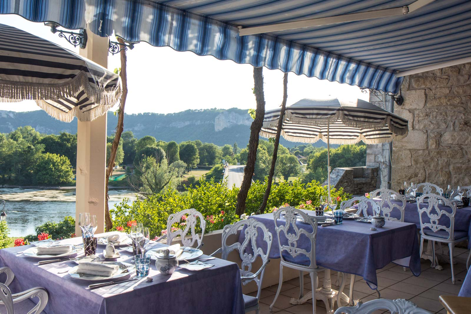 Restaurant La Terrasse Meyronne My Active Dordogne Trip With Headwater Holidays In France