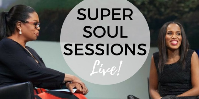 oprah winfrey - super soul sessions live