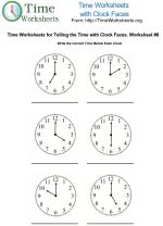Time Clock Face Worksheet