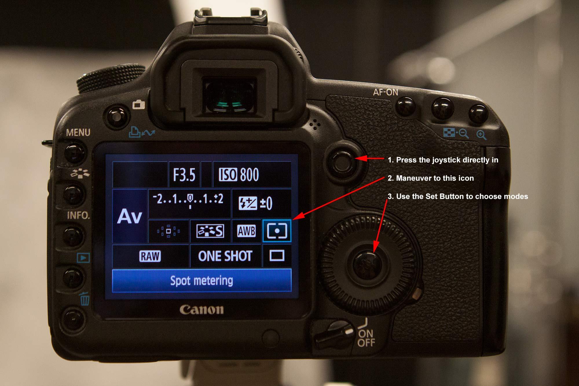 canon 5d mark ii change aperture manual mode