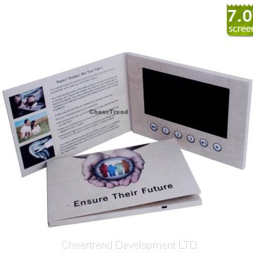 7 inch lcd Print Video Card, TV in Card, Video Brochure, Video - video brochure template