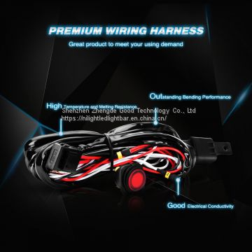 Nilight off Road LED Light Bar Wiring Harness Kit 12V Relay on/ff