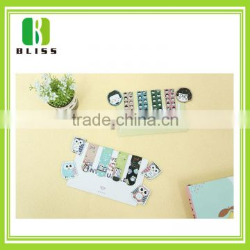Hot sale OEM small order book cover Folding Magnetic anime bookmarks