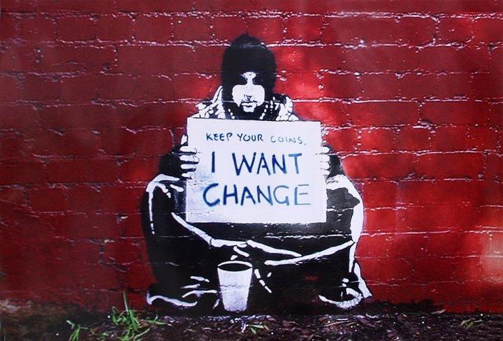 Banksy change homelessness street art