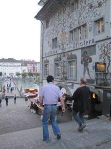 Walking through Lausanne, talking innovation