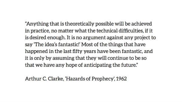 arthur c. clarke prophecy