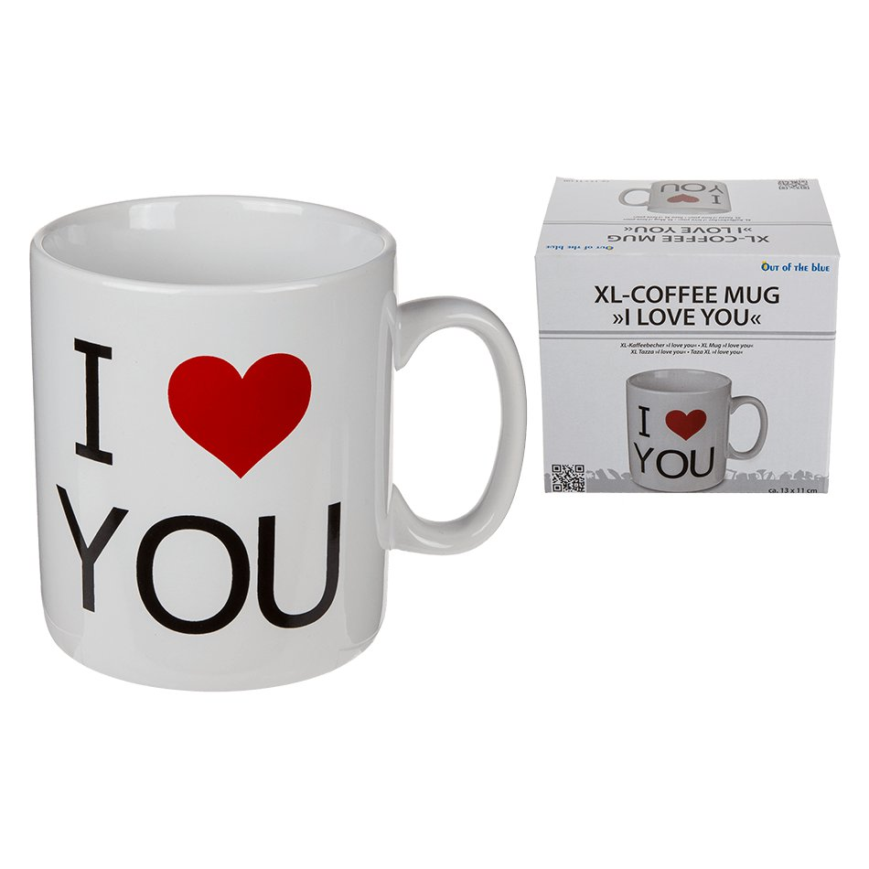 Xxl Tasse I Love You Tasse Xxl 800 Ml 13 11 Cm Out Of The Blue
