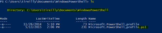 profilelocationpowershell