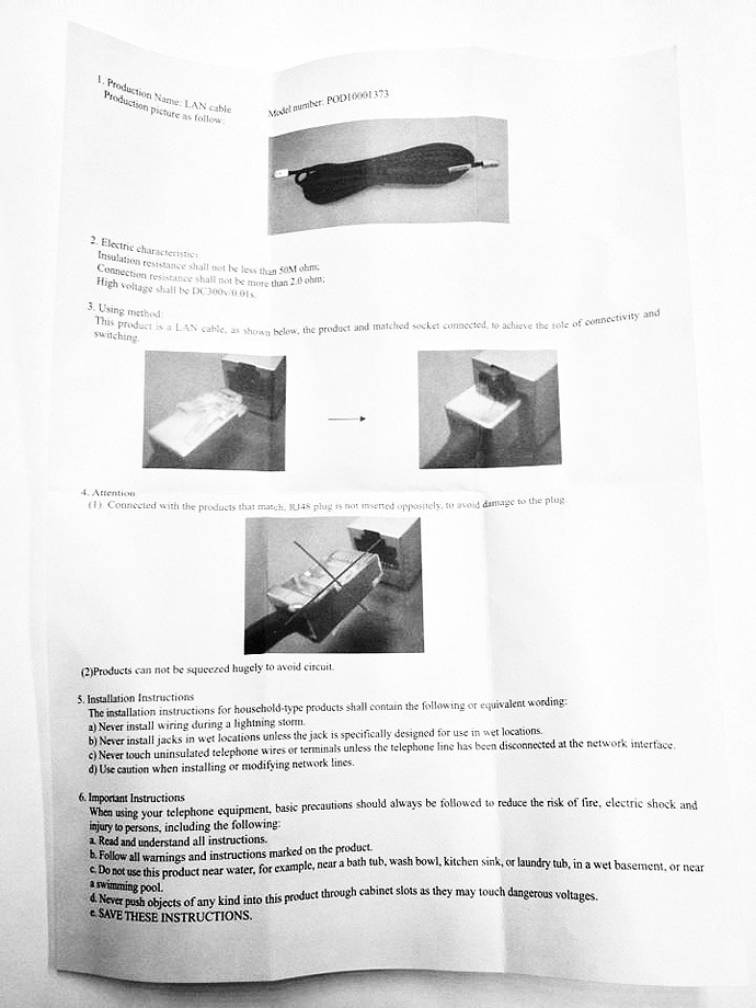 user manual for lan cable small