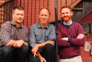 Alex Kehler, Jeremiah McLane, and Timothy Cummings in Québec