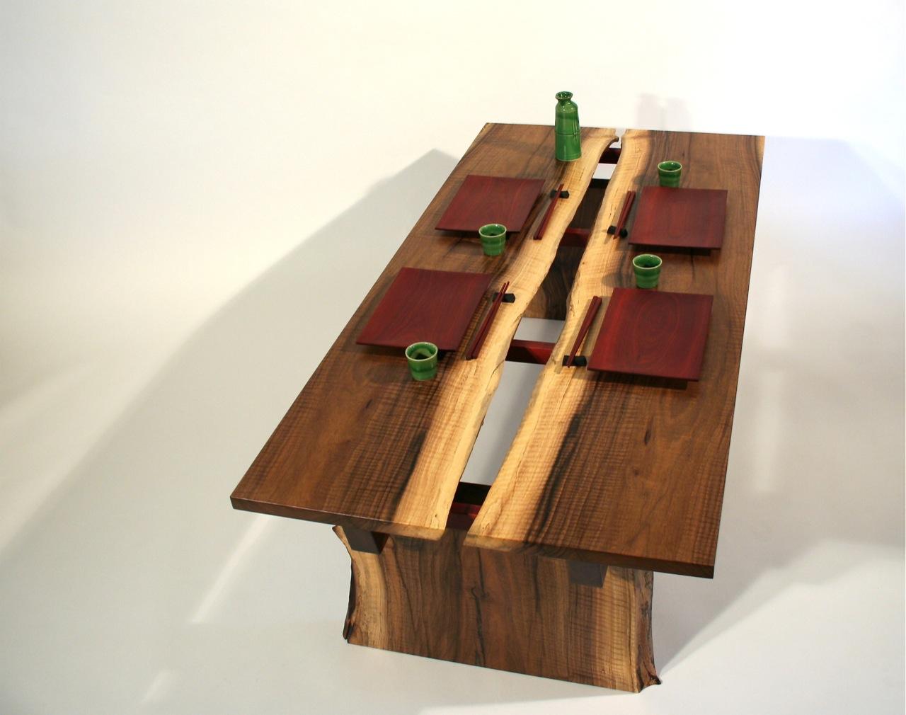 Rivers Rift Walnut Sushi Coffee Table Timothy39s Fine