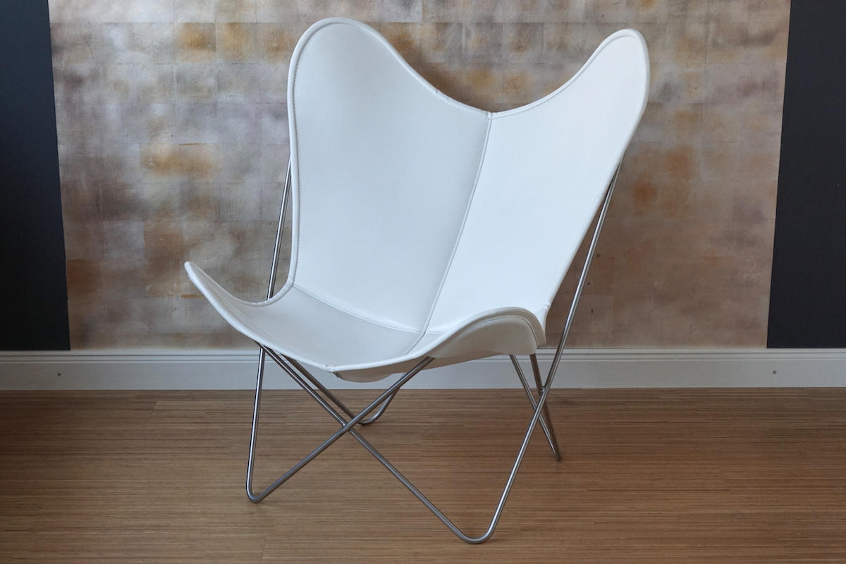 Butterfly Chair Leder Butterfly Chair Hardoy Weiss Leder